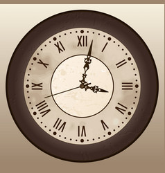 antique clock vector image