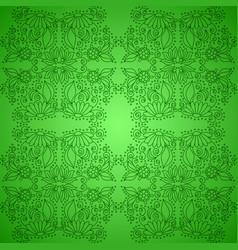 Seamless vintage green pattern vector