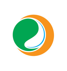 circle water silhouette logo vector image