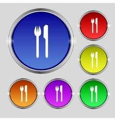 Eat sign icon cutlery symbol fork and knife set vector