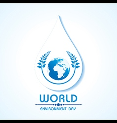 Creative world environment day greeting vector