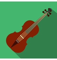 Violin flat icon vector