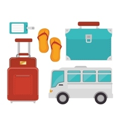 Summer travel and vacations vector