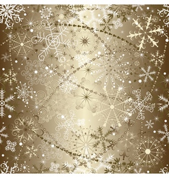 brilliant golden christmas vector image