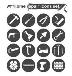 Home repair and renovation icons set vector