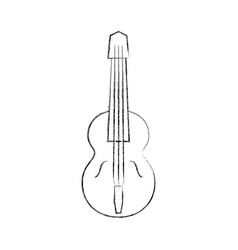 acoustic guitar isolated icon vector image vector image