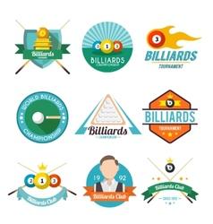 Billiard Label Set vector image
