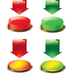 button and arrow vector image vector image