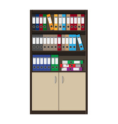cabinet and files ring binders office folders vector image