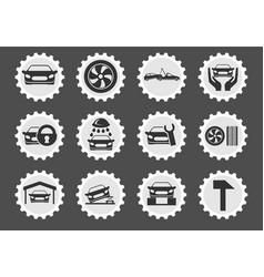 car service maintenance icon set vector image vector image