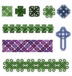 celtic knot collection vector image vector image