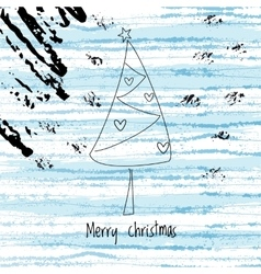 Christmas winter background and abstract xmas tree vector