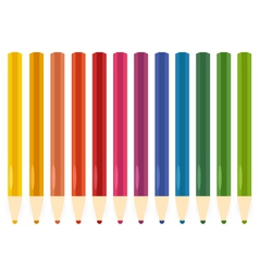 Colorful Pastel Crayons set isolated on white vector image