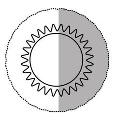 contour sticker sun icon vector image