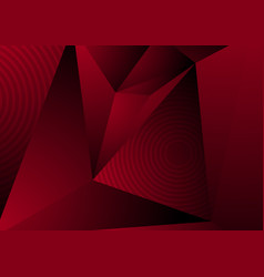 Dark red abstract concept polygonal tech vector