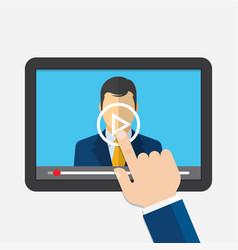 distance learning webinar online conference vector image