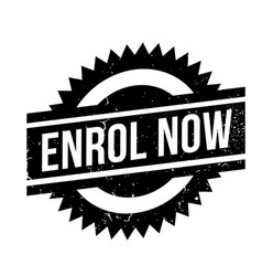 Enrol now rubber stamp vector