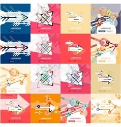 Flat design banners with arrow shape vector