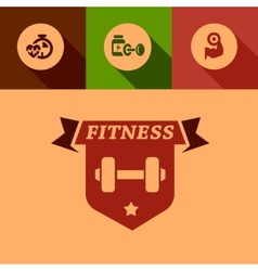 flat fitness design elements vector image vector image