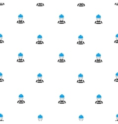 Glad worker flat seamless pattern vector