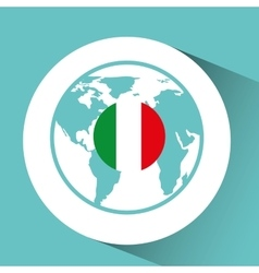 Italy flag pin map design vector