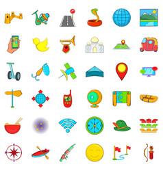 leisure sport icons set cartoon style vector image vector image