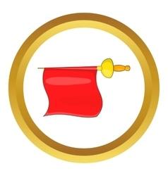 Matador red fabric icon vector