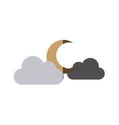 moon clouds weather forecast climate sky vector image