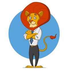 office lion vector image vector image
