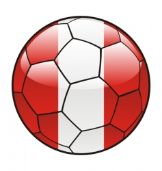 peru flag on soccer ball vector image vector image