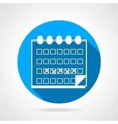 Round blue icon for menstrual calendar vector