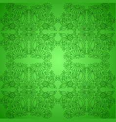 seamless vintage green pattern vector image