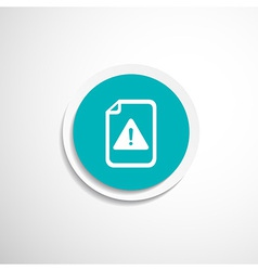 Security warning in browser icon alert bug vector