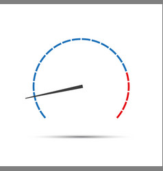 Simple tachometer with indicator vector