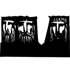 Three Dark Heads vector image
