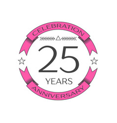 Twenty five years anniversary celebration logo vector