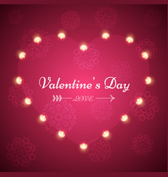 valentine s day - light vector image vector image