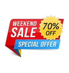 weekend sale vector image vector image