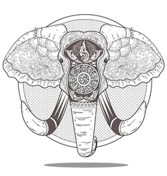 elephant art vector image