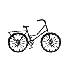 Bicycle vehicle retro icon vector