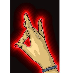 Hand up vector image