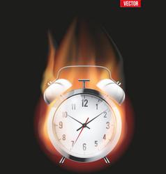 Burning alarm clock vector
