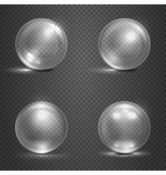 Shine 3d glass spheres magic balls crystal orbs vector