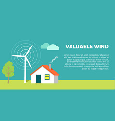 Valuable wind conceptual flat style banner vector