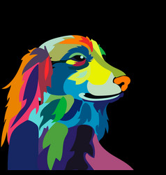 Colorful dog vector