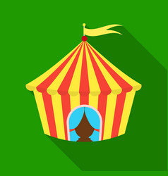 Circus tent icon in flat style isolated on white vector