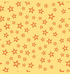 Shiny stars style seamless pattern pentagonal gold vector
