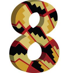 3d font number 8 vector