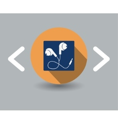 Earphone icon vector