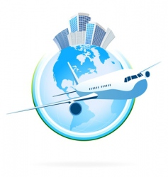 business planet vector image
